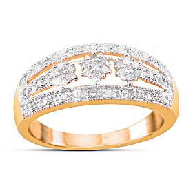 Majestic Diamond Cluster Ring