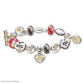 Go Buccaneers! #1 Fan Charm Bracelet