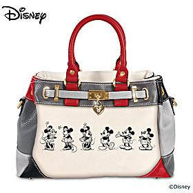 Disney Mickey And Minnie Love Story Handbag
