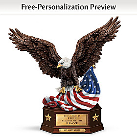This Land Is Free Because Of The Brave Personalized Box