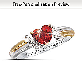 Heart's Embrace Personalized Ring