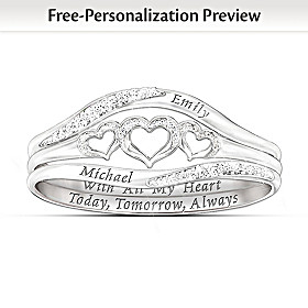 With All My Heart Personalized Diamond Ring