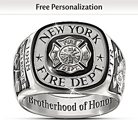 Brotherhood Of Honor Personalized Ring