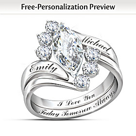 Love Completes Us Personalized Ring