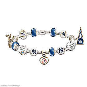 Go Yankees! #1 Fan Charm Bracelet