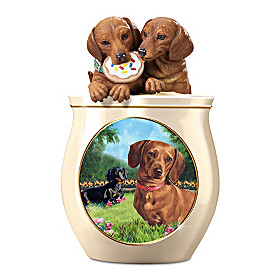 Cookie Capers: The Dachshund Cookie Jar