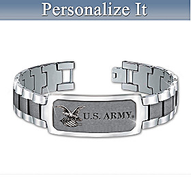 U.S. Army Personalized Men's Bracelet