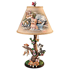 Country Kitties Lamp