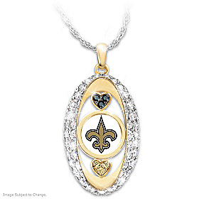 For The Love Of The Game Saints Pendant Necklace