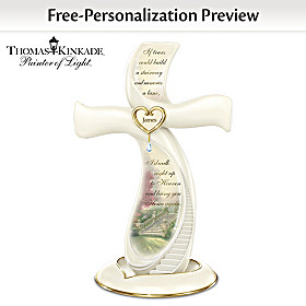 Thomas Kinkade Memories Of Love Personalized Cross