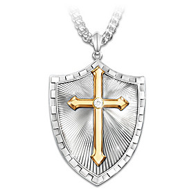 Strength In The Lord Diamond Pendant Necklace