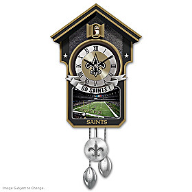 New Orleans Saints Cuckoo Clock