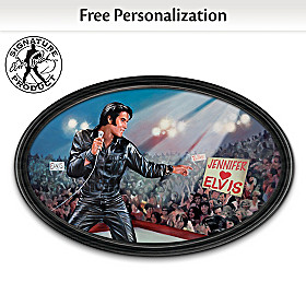 The King Of My Heart: Elvis Personalized Collector Plate