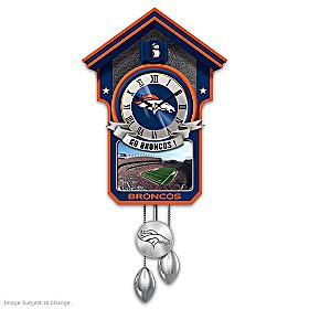 Denver Broncos Cuckoo Clock