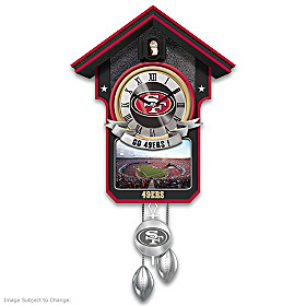 San Francisco 49ers Cuckoo Clock