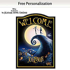 The Nightmare Before Christmas Personalized Welcome Sign