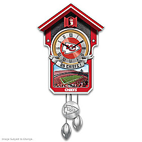 Kansas City Chiefs Cuckoo Clock