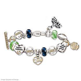 #1 Fan Seattle Seahawks Super Bowl Charm Bracelet
