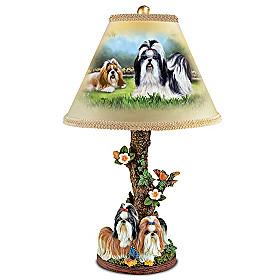 Spirited Shih Tzus Lamp