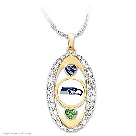 For The Love Of The Game Seattle Seahawks Pendant Necklace