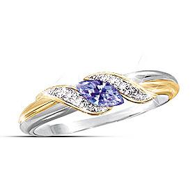 Tanzanite And Diamond Embrace Ring