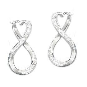 Forever My Granddaughter Diamond Earrings