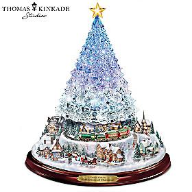 Thomas Kinkade Reflections Of Christmas Tabletop Tree