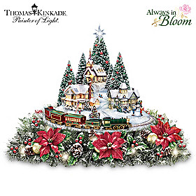 Thomas Kinkade Holidays Bring You Home Table Centerpiece