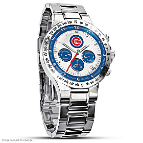 Chicago Cubs Men's Collector's Watch