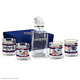 New England Patriots Decanter Set