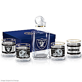 Las Vegas Raiders Decanter Set
