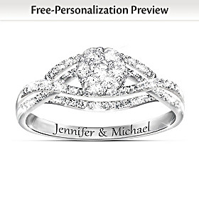 Bouquet Of Love Personalized Ring
