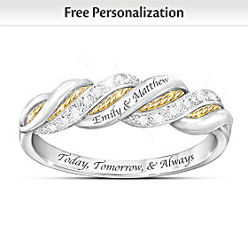United In Love Personalized Diamond Ring