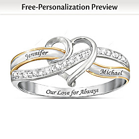 Our Love For Always Personalized Diamond Ring