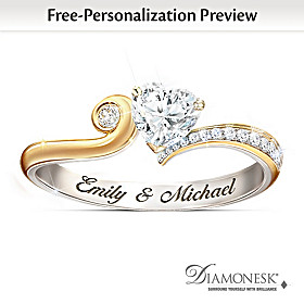 You Make My Heart Smile Personalized Ring