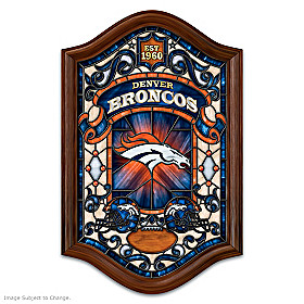 Denver Broncos Illuminated Stained Glass Wall Decor
