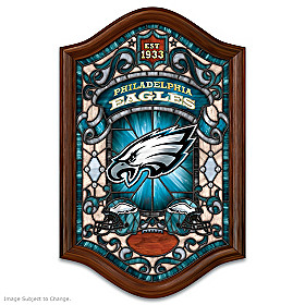 Philadelphia Eagles Illuminated Stained Glass Wall Decor