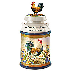 Country Morning Cookie Jar
