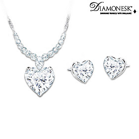 Love At First Sight Pendant Necklace And Earrings Set