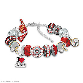 Fashionable Fan Buckeyes Bracelet