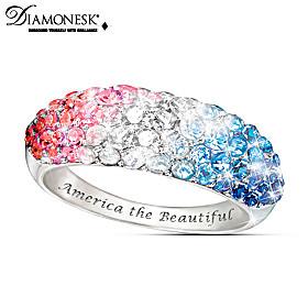 America The Beautiful Ring