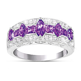 Purple Rhapsody Amethyst And Diamond Ring
