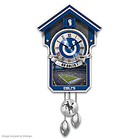 Indianapolis Colts Cuckoo Clock