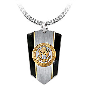 U.S. Army Shield Pendant Necklace
