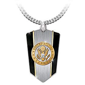 U.S. Army Shield Pendant Necklace