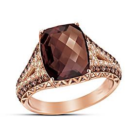 Champagne & Caviar Diamond And Gemstone Ring