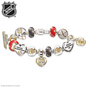 Chicago Blackhawks® #1 Fan Charm Bracelet