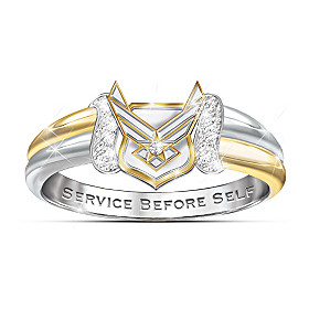 U.S. Air Force Diamond Ring