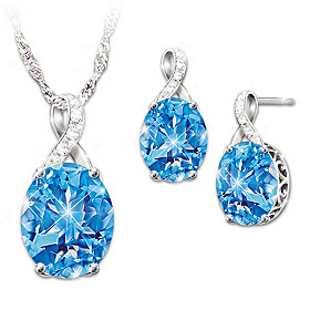 Summer Breeze Pendant Necklace And Earrings Set