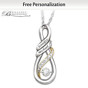 I Love You Personalized Diamond Pendant Necklace